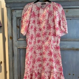 Nina Ricci silk flower dress size 42 NWT